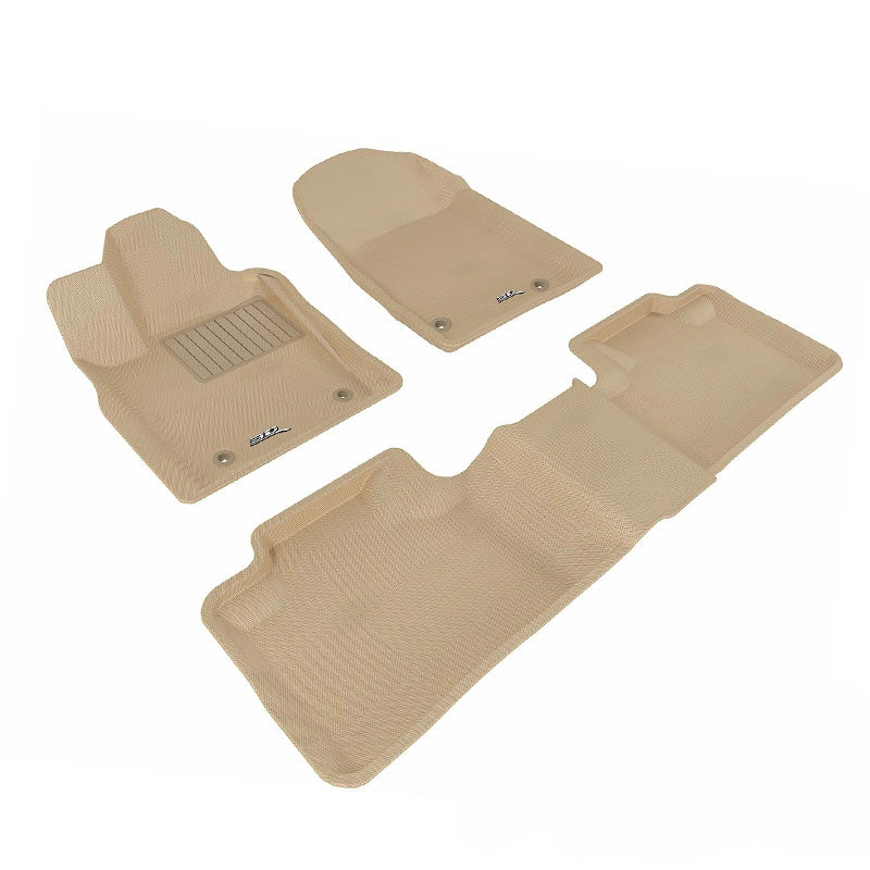 Floor Mats Set Beige For 2008 2013 Toyota Highlander Fenza Auto