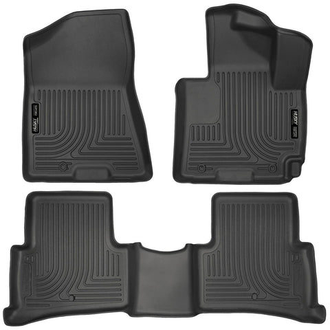 For 2013-2019 Izusu MUX Husky Liner Floor Mats (Black) Right Hand Drive 93111