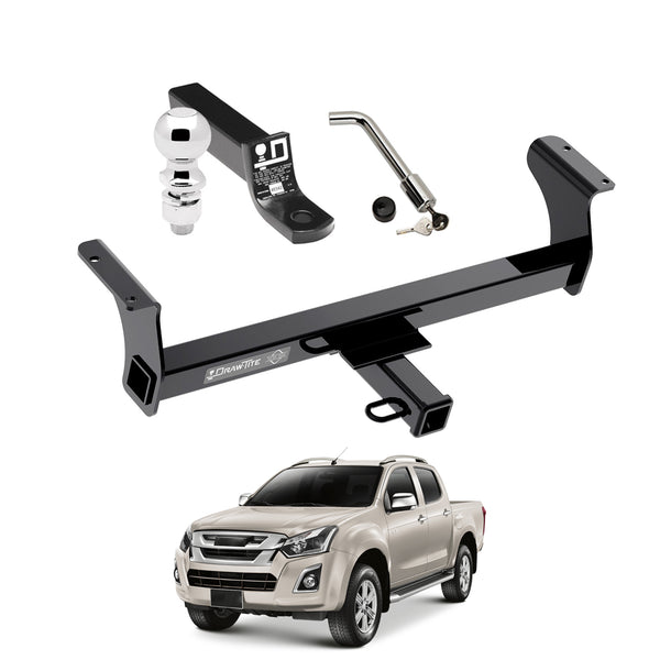 Draw Tite Towing Kit (Frame Receiver + Ball Mount + Pin Lock) for 2013-2019 Isuzu D-Max