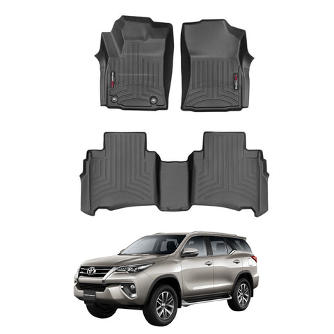 WeatherTech Floor Liners (Black) for 2016-2018 Toyota Fortuner
