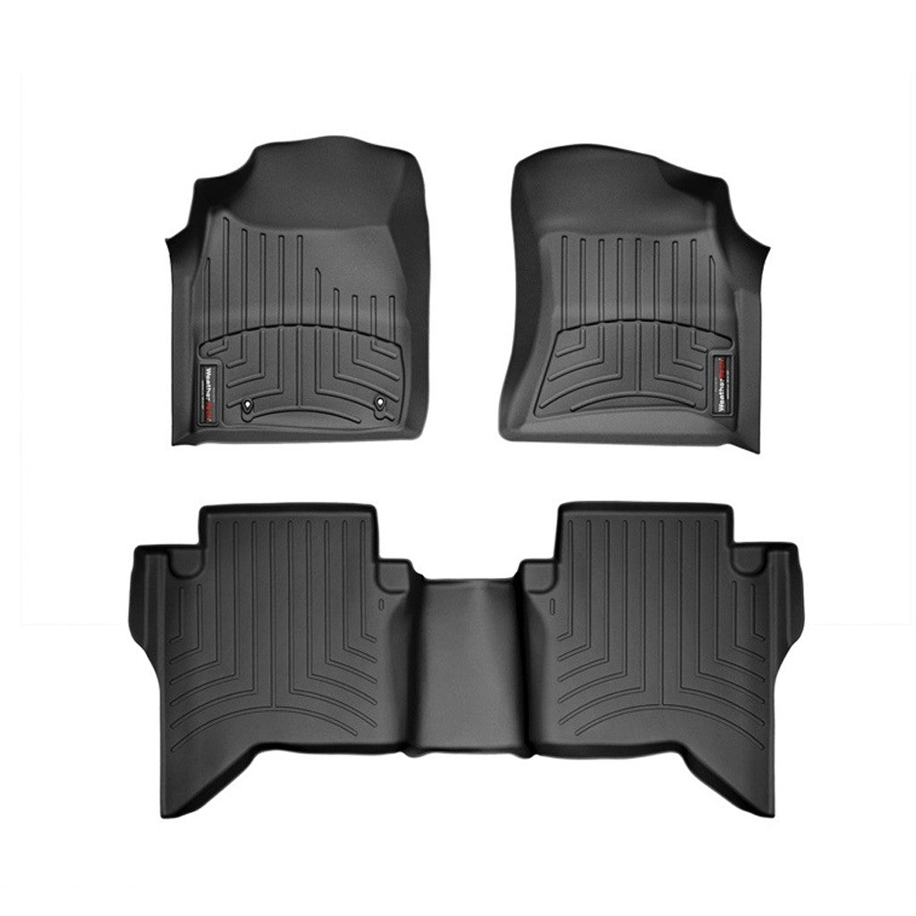 For 2016 2020 Toyota Hilux Weathertech Floor Liners Black