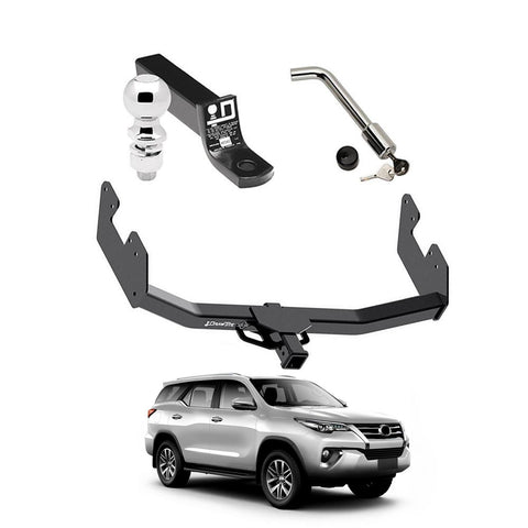 Draw Tite Towing Kit (Frame Receiver + Ball Mount + Pin Lock) for 2016-2019 Toyota Fortuner