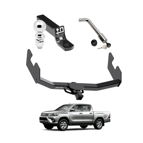 Draw Tite Towing Kit (Frame Receiver + Ball Mount + Pin Lock) for 2016-2019 Toyota Hilux