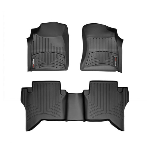 For 2016-2018 Toyota Hilux WeatherTech Floor Liners (Black)
