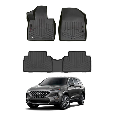 WeatherTech Floor Liners (Black) for 2019-2021 Hyundai Santa Fe