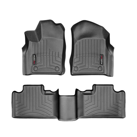 For 2016-2018 Jeep Grand Cherokee WeatherTech Floor Liners (Black)