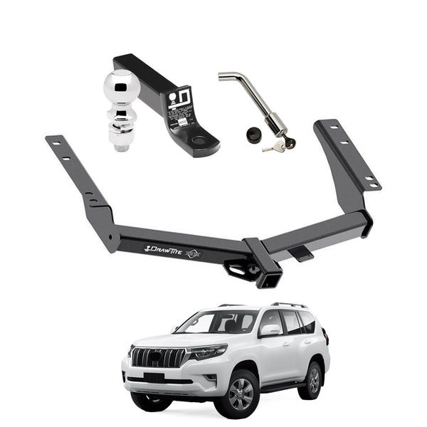 Draw Tite Towing Kit (Frame Receiver + Ball Mount + Pin Lock) for 2014-2019 Toyota Prado