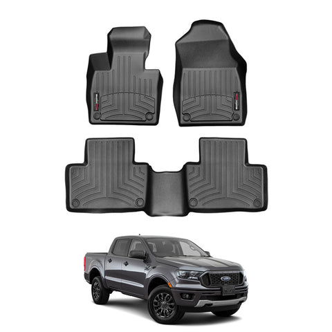 WeatherTech Floor Liners (Black) for 2019-2020 Ford Ranger SuperCrew