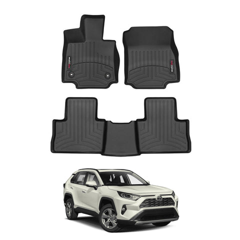 WeatherTech Floor Liners (Black) for 2019-2021 Toyota RAV4