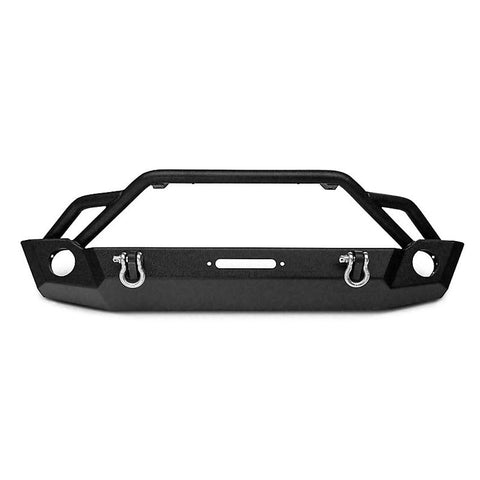 For 2007-2018 Jeep Wrangler JK Front Bumper Black Rock Texture