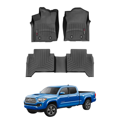 WeatherTech Floor Liners (Black) for 2018-2020 Toyota Tacoma Double Cab (Automatic)