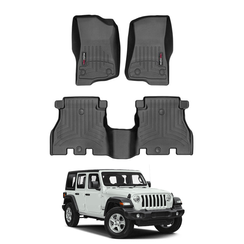 Weathertech Floor Liners Black For 2019 Jeep Wrangler Unlimited Fenza Auto Accessories
