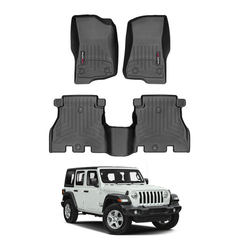 WeatherTech Floor Liners (Black) for 2019 Jeep Wrangler Unlimited