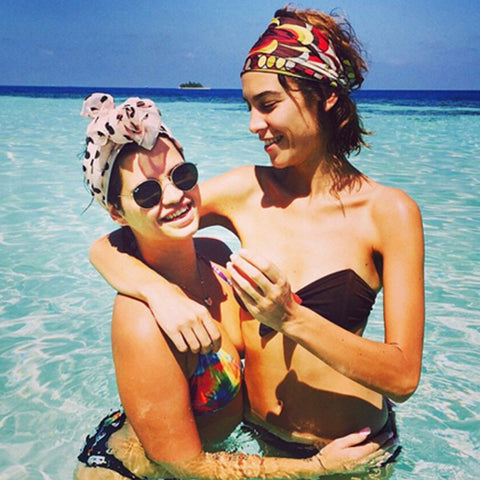 Pixie Geldof and Alexa Chung Wearing Headscarves