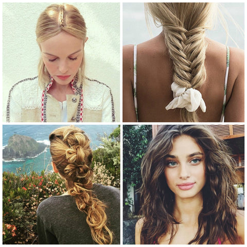 Holiday hair inspiration collage
