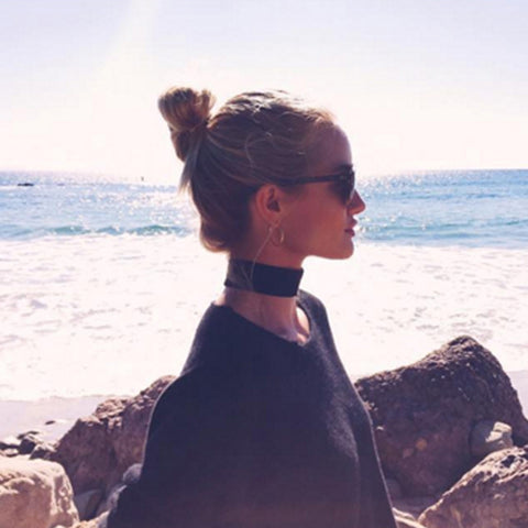 Rosie Huntington Whiteley Top Knot