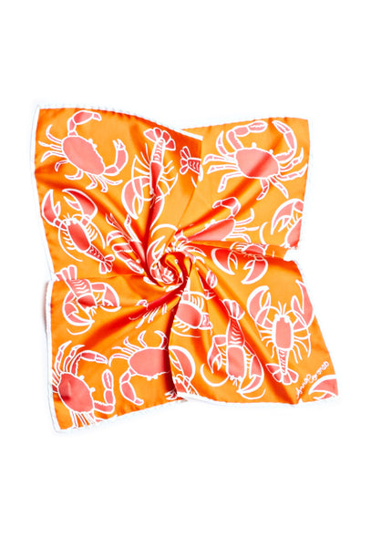 Spicy Crabster Orange Silk Scarf