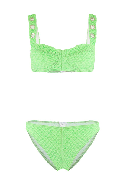 Ana Due Lime Green High Waisted Bikini