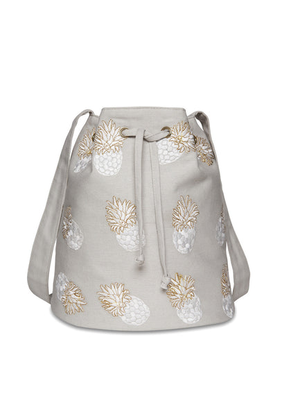 Ananas Beige Bucket Bag