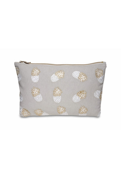 Ananas Beige Clutch Bag
