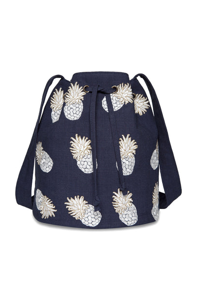 Ananas Navy Bucket Bag