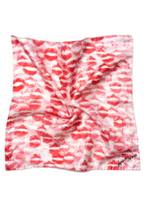 Red and White Kisses Silk Scarf