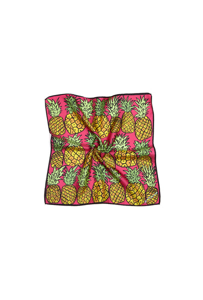 Pineapples Silk Scarf