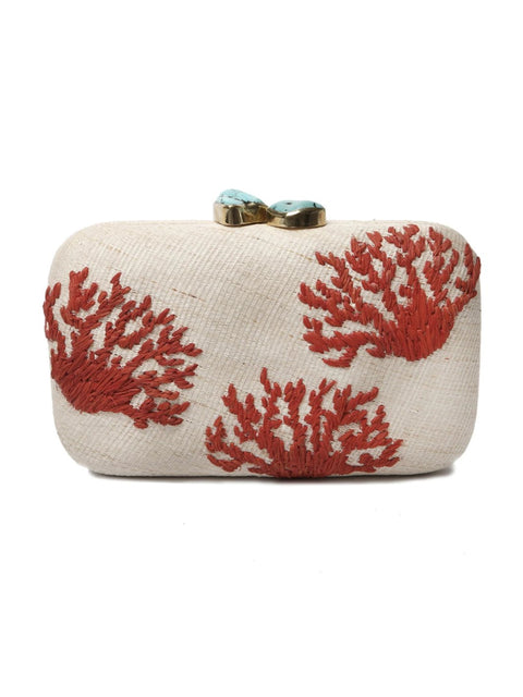 Red Coral Clutch Bag