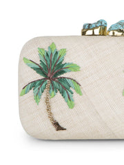 Green Palm Tree Clutch Bag