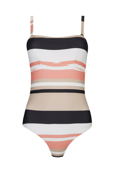 Neutral Bold Stripe One Piece - FINAL SALE ITEM
