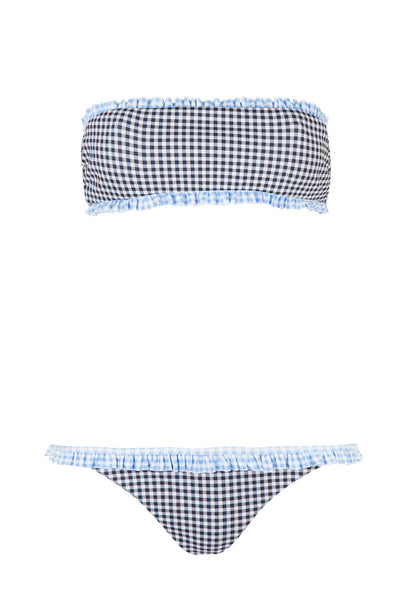 Gingham Bandeau Bikini - FINAL SALE ITEM