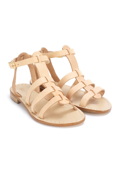 Tan Leather Classic Sandals - 8236