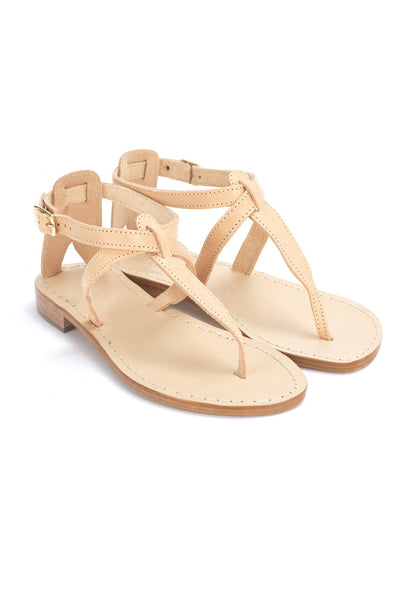 Tan Leather Thong Sandals - 117