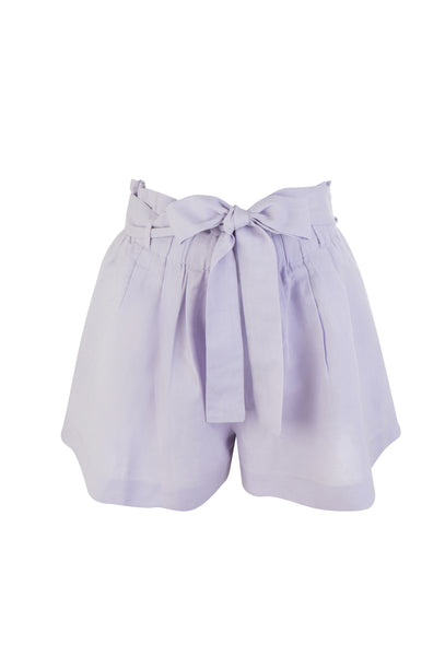 Lilac Tropical Fever High Waisted Shorts