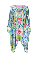 Bahia Bliss Silk Split Front Short Kaftan