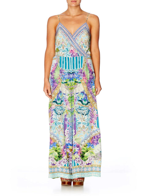 Salvador Fields Forever Silk Jumpsuit