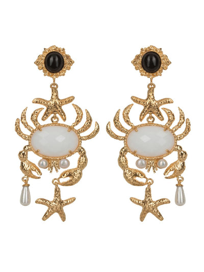 White Majolica Earrings