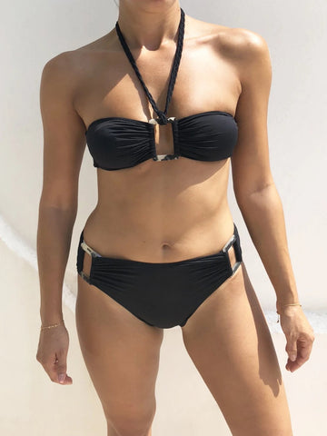 Black Christen Bandeau Bikini - FINAL SALE ITEM