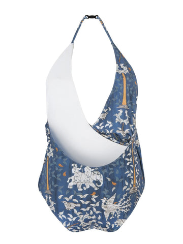 Blue Ganesh Printed Hayes One Piece