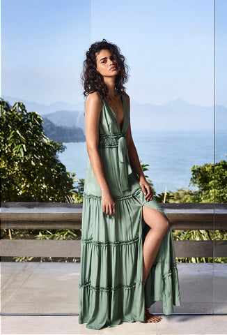 Mint Green Lavenson Maxi Dress - FINAL SALE ITEM