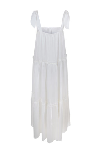 White Midi Peggy Dress