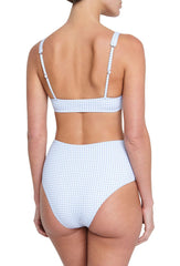 Pale Blue Gingham Betty Bikini