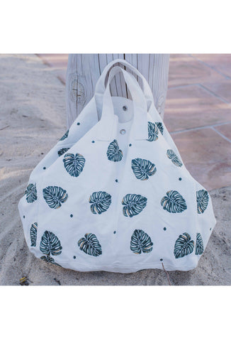 Jungle Leaf Beach Bag