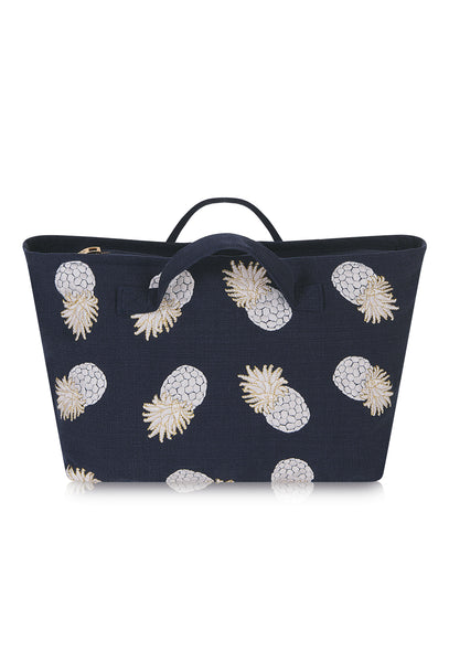 Navy Ananas Travel Bag