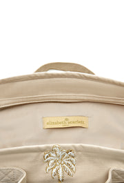 Taupe Palmier Travel Bag