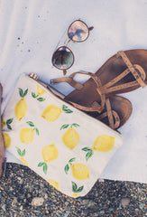White Lemon Travel Pouch