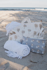 White Palmier Beach Bag