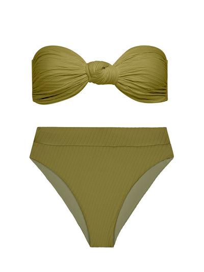 Moss High Waisted Bikini