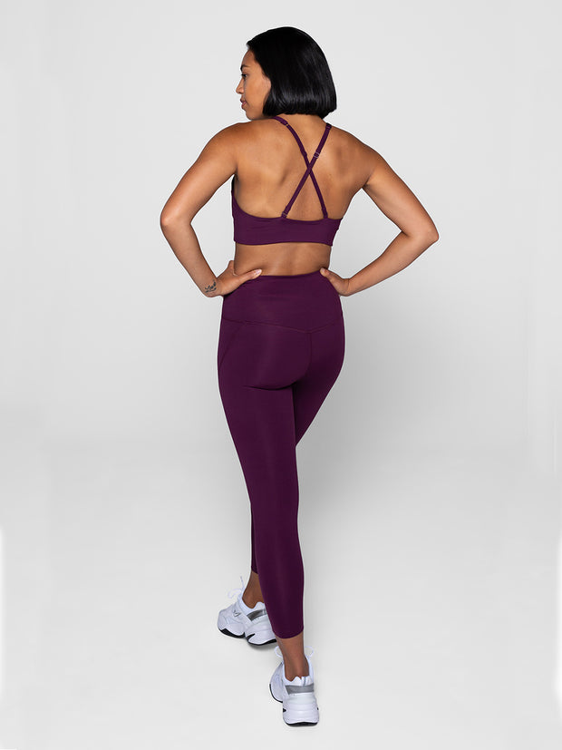 Plum High-Waisted Leggings