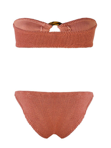 Metallic Rust Gloria Bandeau Bikini